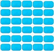 ABS Gel Pads, 30PCS Muscle Stimulator Pads Replacement for Ultimate Muscle EMS Toner Abdominal Belt Belly Thig