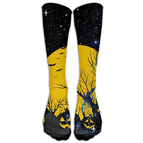 Happy Halloween Bat Pumpkin Compression Socks Football Socks Sports Stockings Long (Halloween Boot Camp Workout)