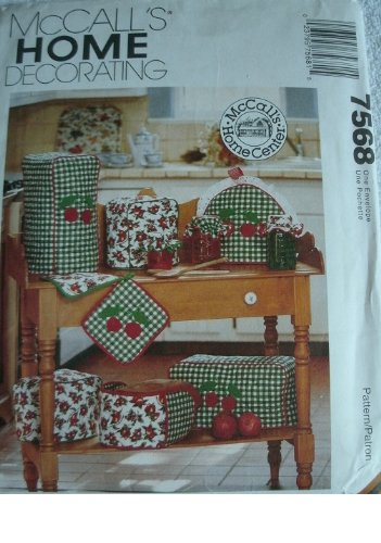 - KITCHEN APPLIANCE COVERS PLUS - MCCALLS HOME DECORATING PATTERN 7568