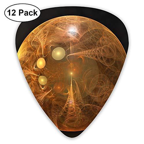 - 12-Pack Fashion Classic Electric Guitar Picks Plectrums Smoke Circle Ball Instrument Standard Bass Guitarist