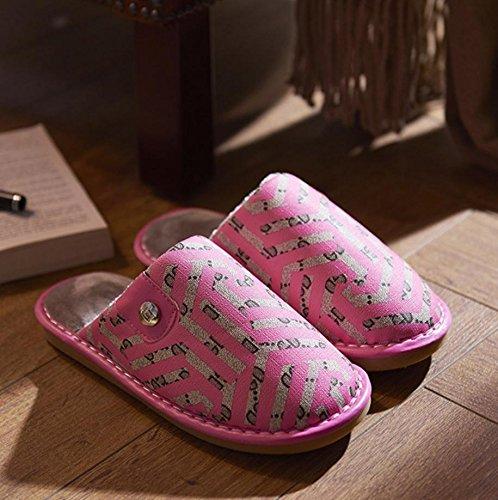 Tamaño Ladies Zapato Rojo Thermal Sintética Mediano Piel Casual Zapatillas Sandía De qOFzgqxw1