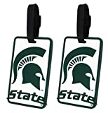 Michigan State Spartans - NCAA Soft Luggage Bag Tag - Set of 2