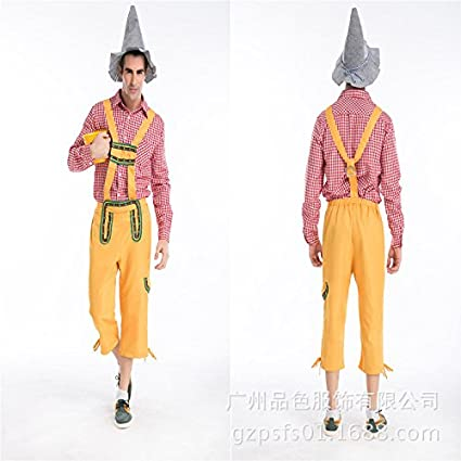 Tirantes de hombre agricultor de Halloween set cosplay traje ...