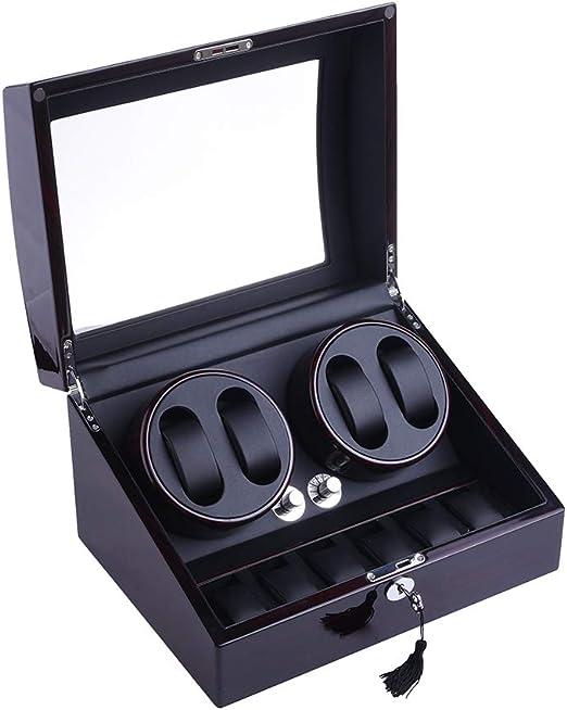XTELARY - Caja de almacenamiento con rotación automática para reloj de 4 + 6 (madera de piano): Amazon.es: Relojes