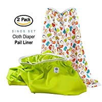 Baby Tooshy Diaper Pail Liner Set (2) - Large Capacity Wet Bag for Cloth & Di...