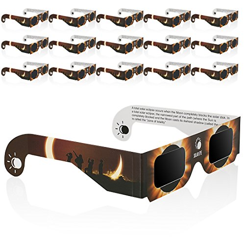 Solar Eclipse Glasses 16 Pack Sun Viewing Sunglasses Shades Safety Eye Protection Ce   Iso Certified Viewer Filter Blocks Total Eclipses Uv Rays Infra Red White Spectrum Light