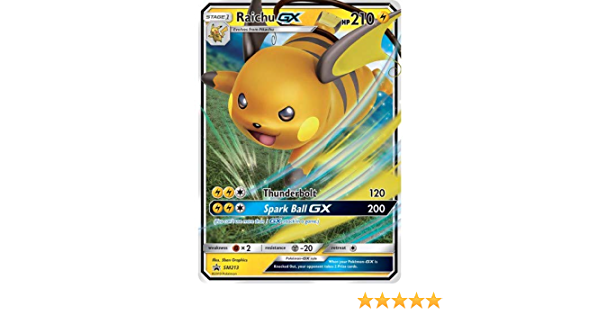 Pokemon Hidden Fates Raichu GX Promo Cards Black Star
