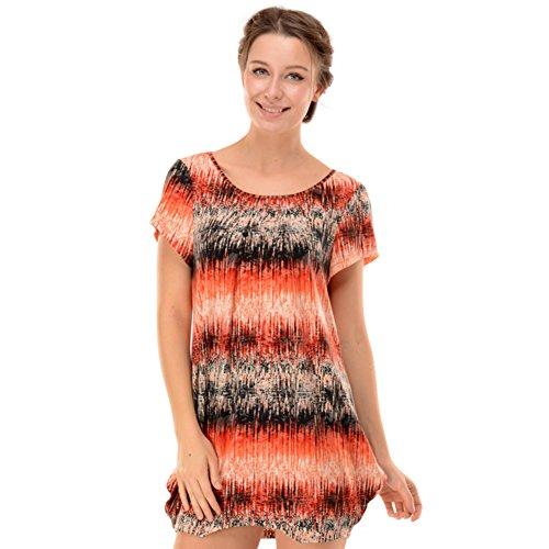 pijamas señorita Xia Kuan/alrededor del cuello de la falda impresa camisón de algodón de manga corta/ Camisón siamés/ Ropa interior como ropa exterior B