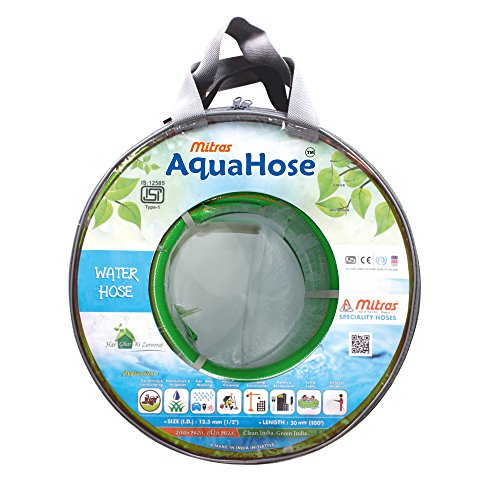 AquaHose Water Hose  12.5mm ID   1/2 #34;    100 ft.  30 mtr  for Garden ISI Marked Hose Pipe