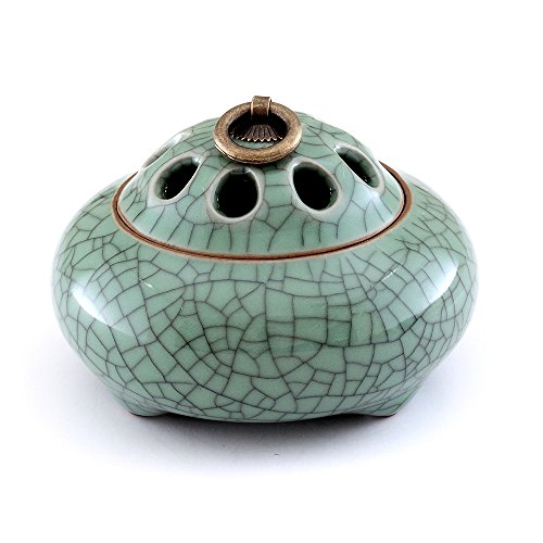 MEDOOSKY Ceramic Incense Burner Holder(For Sticks, Cones or Coils Incense), Firing at 1300℃
