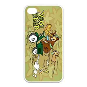 Mystic Zone Yogi Bear iPhone 4 Case for iPhone 4/4S Cover Classic Cartoon Fits Case KEK1084