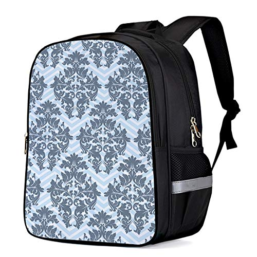 School Bags for Children Elegant Enchanted Breeze Damask Jacquard Lightweight Kids' Backpacks Satchel Students,Girls,Boys 13