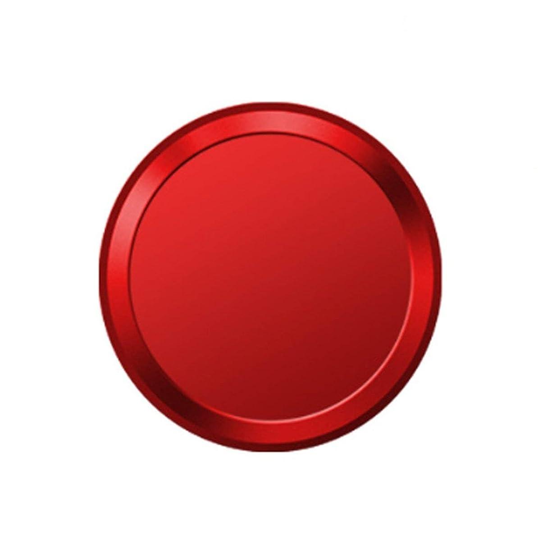 継続中ロッカー責めるMQman 指紋認証 ホームボタンシール ipad iphone 対応 (レッド×白)