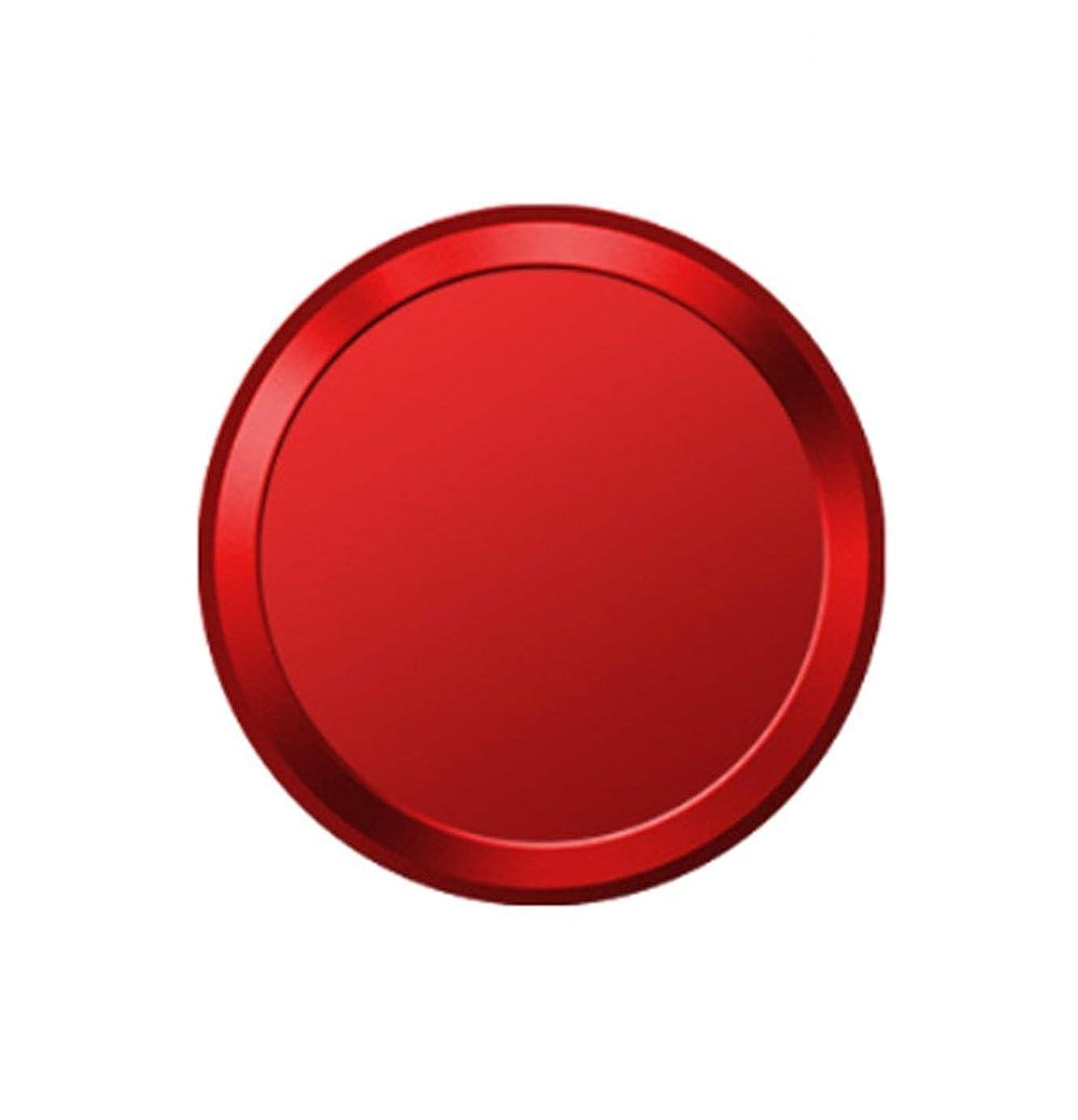 半島素人計算するMQman 指紋認証 ホームボタンシール ipad iphone 対応 (レッド×白)