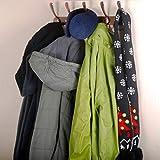 Dseap 5 Triple-Hook Coat Hook, 2 Pcs