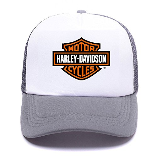 Harley Trucker Gray Girl de Hat Baseball Cap Caps Boy D Mesh For Gorras Black béisbol Women Men 006 p0Txpwr