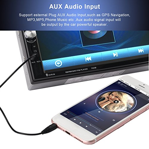 Catuo Bluetooth Car Touch Screen Stereo Audio Video Receiver Player,  7 Inch 1080P Car Media MP5 Player with Rear View Camera Supported, FM Radio/USB/TF/AUX-in/Hands-free Call by CATUO (Image #8)