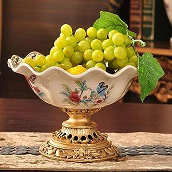 Sobre @ de europeo y americano/cerámica/Bandejas/Fruta Plato/cuenco/pintura manualidades/salón dormitorio/mesa de comedor muebles/Home Decor: Amazon.es: ...