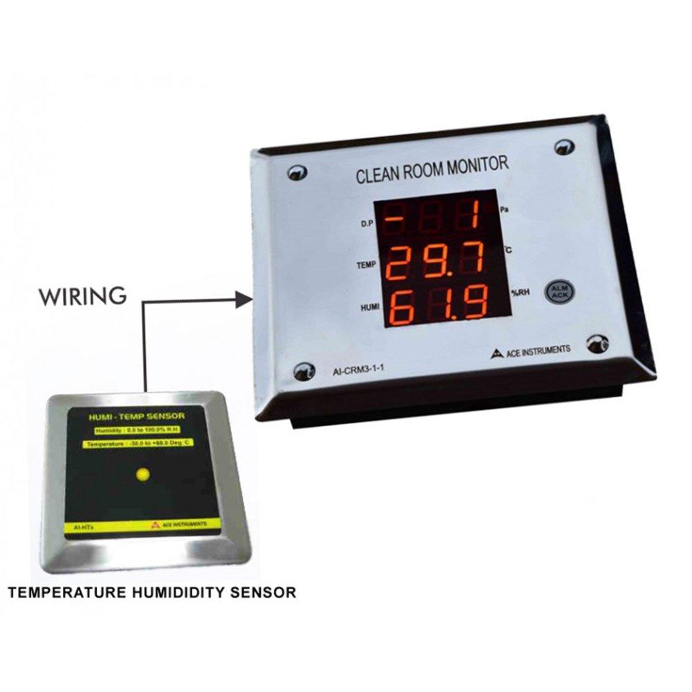 Pharma Clean Room Monitor External Sensor (3-1 Parameters) along with Calibration Certificate