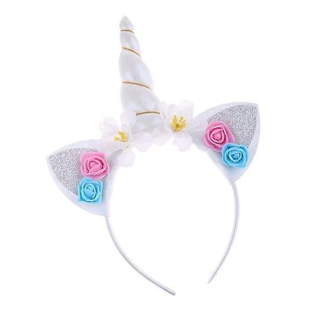 Diadema de Unicornio Mujer Niña Navidad Halloween Disfraces ...