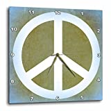 3dRose Earth Green Sky Blue Peace Sign- Inspirational Art – Wall Clock, 13 by 13-Inch (dpp_40221_2) For Sale