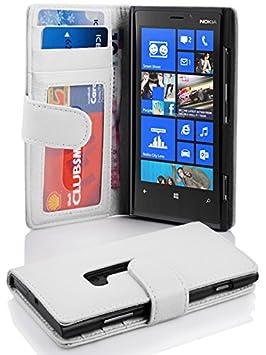 Cadorabo Funda Libro para Nokia Lumia 920 en BLANCO MAGNESIO: Amazon.es: Electrónica