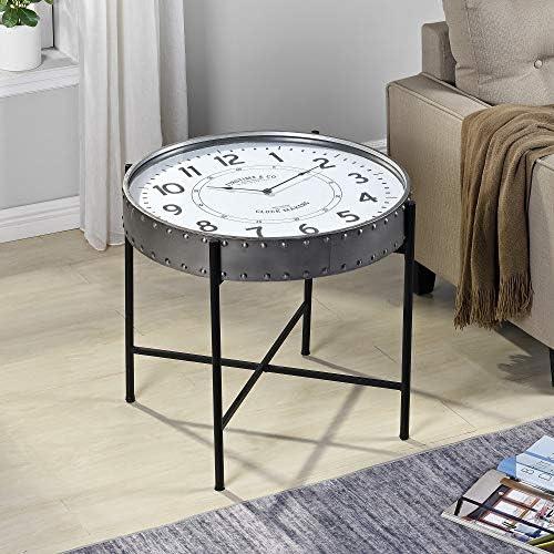 FirsTime Co. Zinc Clockwork Accent Table