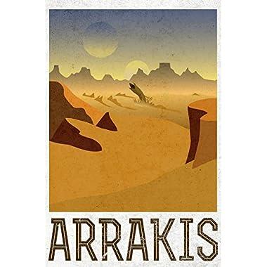 Arrakis Retro Travel Art Print 24 x 36in