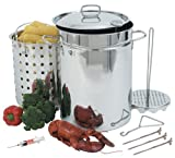 Bayou Classic 32-Quart Stainless Steel Turkey Fryer Pot Set