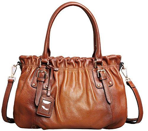 Heshe® Women's New Fashion Tote Top Handle Crossbody Shoulder Bag Purse Handbag (sorrel)