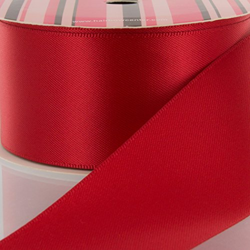 "3/8"" Red Double Face Satin Ribbon 5 yard Reel"