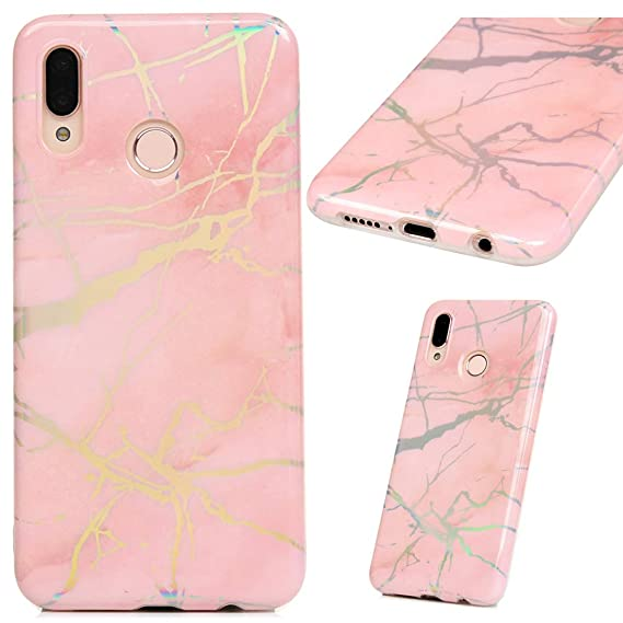 newest collection 6be59 a618d Amazon.com: Huawei P20 Lite Case,Marble Case Clear Slim Phone Cover ...