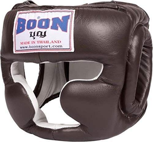 BoonスポーツMuay Thai Kickboxing Sparring headgear-hgsbr Kickboxing – – brown-100 % Large leather-durable Large B01N14PZ6J, ニマチョウ:906a14ad --- capela.dominiotemporario.com