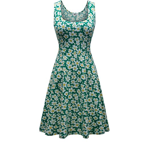 Herou-Women-Summer-Beach-Casual-Flared-Floral-Tank-Dress