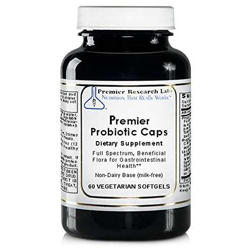 Premier Probiotic Caps, 60 Softgels - Full Spectrum, Beneficial Flora for Gastrointestinal; Health Non-Dairy Base (milk-free)