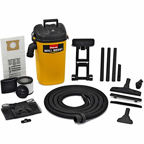 Shop-Vac 3942000 5 Gallon 4.0 Peak HP Wall Mount Wet/Dry Vacuum