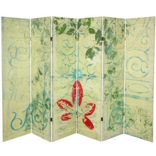 Oriental Furniture 5 1/4 ft. Garden Gate Canvas Room Divider 6 ()