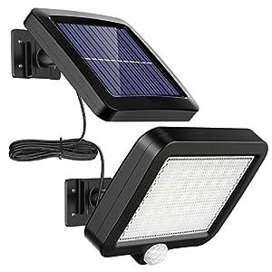 51y8Z ipJmL. SS300 Solarlampen für Außen, MPJ 56 LED Solarleuchte Aussen mit Bewegungsmelder, IP65 Wasserdichte, 120°Beleuchtungswinkel…
