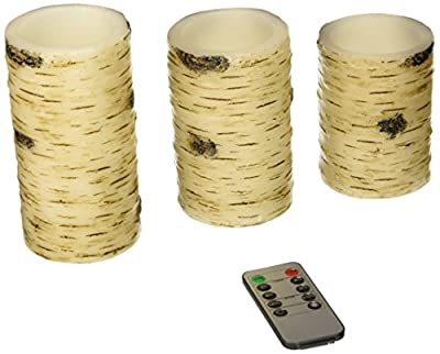 Antizer Flameless candles with birch effect