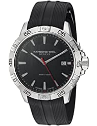 Raymond Weil Mens Tango Swiss Quartz Stainless Steel and Rubber Casual Watch, Color Black (Model: 8160-SR2-...
