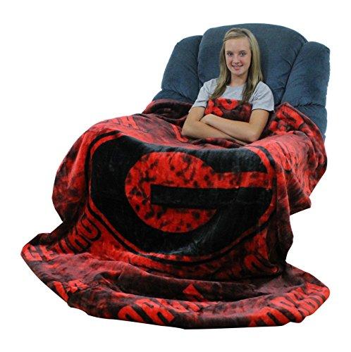 College Covers Georgia Bulldogs Throw Blanket/Bedspread (Bulldog Throw compare prices)