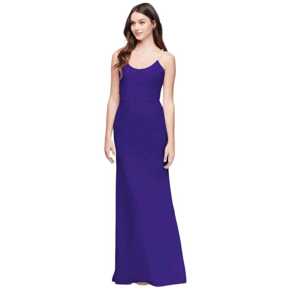 83b74978885 Chiffon Sheath Bridesmaid Dress with Beaded Straps Style F19526 at Amazon  Women s Clothing store