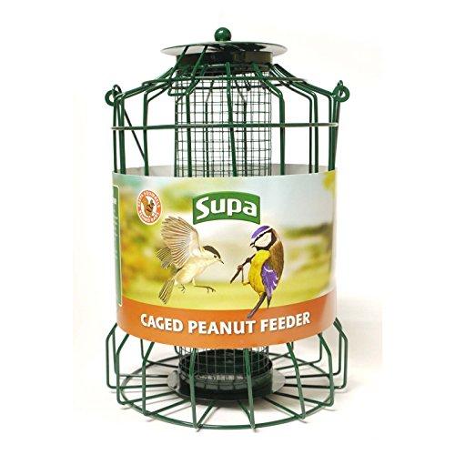 - Supa Caged Peanut Bird Feeder (10in) (Green)