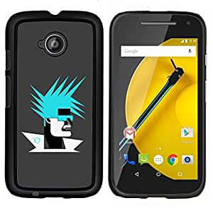 LECELL--Funda protectora / Cubierta / Piel For Motorola Moto E2 E2nd Gen -- Resumen Retrato --