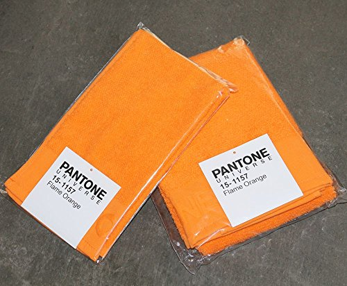 Bassetti 15-1157 Pantone llama Naranja par de 2 toallas/toallas de 30 x 50 cm 1 + 1 toalla de mano 50 x 100 cm color naranja 100% tela de algodón de rizo: ...