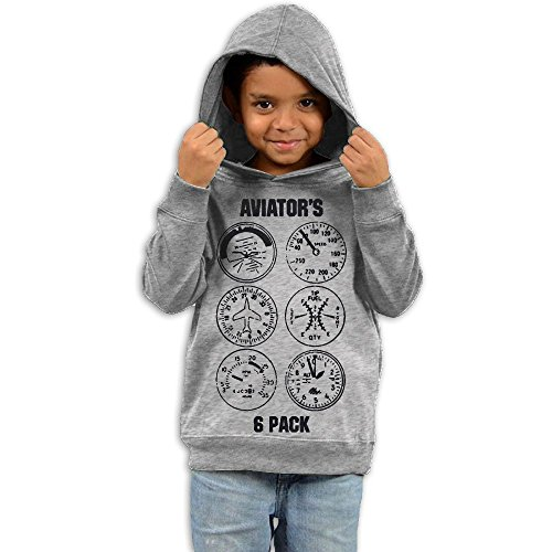 ZheuO Boys & Girls Baby Aviator Vintage Hoodie Sweatshirt 5-6 Toddler - Aviators Tumblr