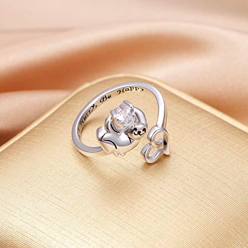 Cute Sloth Heart Ring