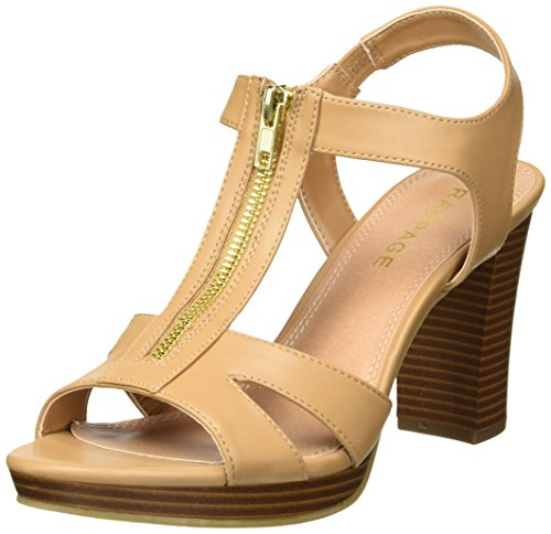 Rampage Women's Preeta Peep Toe Platform Heel Heeled Sandal, Camel Smooth, 8.5 M US (Rampage Shoes Com)