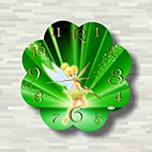 Tinker Bell 11.8'' Handmade Wall Clock - Get unique décor for home or office – Best gift ideas for kids, friends, parents and your soul mates
