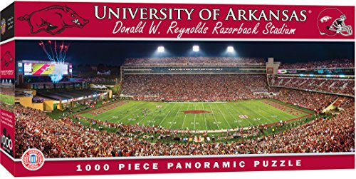 MasterPieces Collegiate Arkansas Razorbacks 1000 Piece Stadium Panoramic Jigsaw Puzzle (Stadium Razorback)